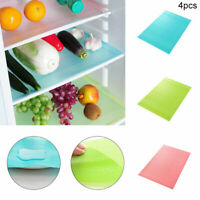 4Pcs Refrigerator Fridge Mat Pad Drawer Liners Washable Waterproof Kitchen Shelf
