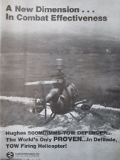 11/1982 PUB HUGHES 500MD DEFENDER MAST MOUNTED SIGHT TOW MISSILE HELICOPTER AD