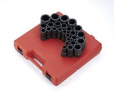 "Sunex Tool 4693 26 Piece 3/4"" Drive Metric Deep Impact Socket Set"