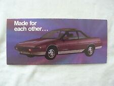 Subaru XT Coupe Accessories - US-Prospekt Brochure 1985 USA