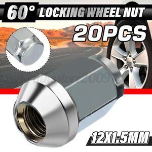 20pcs 12x1.5 M12x1.5 Alloy Steel Wheel Lug Nut 60 Degree Tapered Bolts 19mm