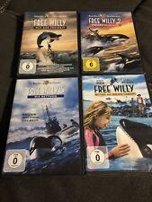 Free Willy  1- 4 - Alle Filme 4 DVDs - Rarität - Deutsch