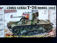 T-26 MODEL 1933 SOVIET LIGHT TANK, MIRAGE HOBBY 72609, SCALE 1/72