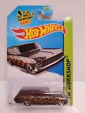 Hot Wheels HW Workshops 64 Chevy Nova Station Wagon Toys R Us 2013 Black HTF