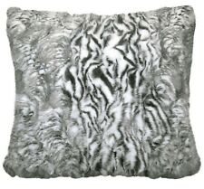 Faux Fur Siberia Grey Cushion Cover Pillow Case Sofa Chair Seat Pad 43x43cm 17""