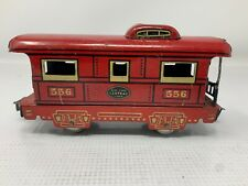 MARX TRAINS 556 NEW YORK CENTRAL LINES TIN RED CABOOSE - PREOWNED