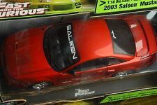 FAST AND THE FURIOUS 2003 SALEEN MUSTANG 1:18 SCALE  by joy ride  ertl