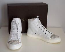 GUCCI  Damen Schuhe Sneakers Leder weiß Gr. 38,5 Neu 370875