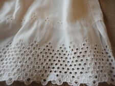 Childrens Slip Childs Cotton with Long Eyelet Trim Slip Vintage