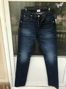 Hudson Byron Straight Leg Jeans BABL BANDIT BLUE STRETCH SIZE 30 MSRP $185.00