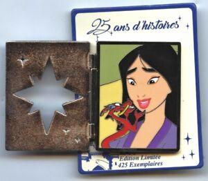 Disney DLP DLRP Disneyland Paris Mulan Mushu Cri-Kee Lantern Pin Blue New Card