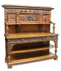Antique Sideboard, Large Renaissance Revival Well-Carved Early 1900s, Handsome!