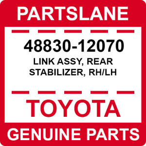 48830-12070 Toyota OEM Genuine LINK ASSY, REAR STABILIZER, RH/LH