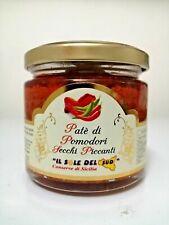 Patè di Pomodori secchi Piccanti Siciliani vaso da 190gr PATE' DI SICILIA