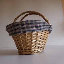 Panière osier fait main wicker basket handmade art déco nouveau XXe France