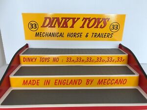 Dinky 33 Mechanical horse & Trailers, 3 Step Display Unit. (toys not included)