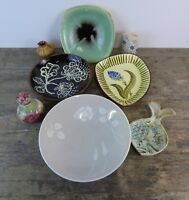 Selection Of Vintage Studio Pottery Pieces To Include Plates, Bowls & More.