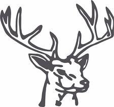 DEER HEAD ANIMAL ,SPORTS,HUNTING ,BOYS,CAR DECAL STICKER