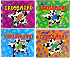 Set of 4 x Crossword Puzzle A5 Books 17,18,19,20 Spiral Bound 192 Pages 3115