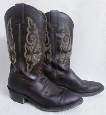 Double H Dark Brown Work Western Boots size 7D Men's Style DH3255