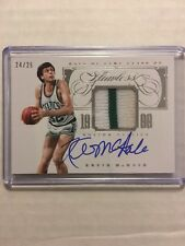 Kevin McHale 2013-14 Panini Flawless HOF 2 color GU Patch on-card Auto #/25