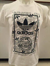 ADIDAS STAN SMITH REPEAT WHITE GRAPHIC TEE T SHIRT MENS SIZE XX LARGE NWT