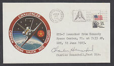 Charles Henschell, Test Director signed STS-7 Challenger Launch Cover,KSC cancel