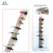 Nymph And Wetfly Flies 12# Hook Assortment For Fly Fishing 8 Patterns Deluxe Kit