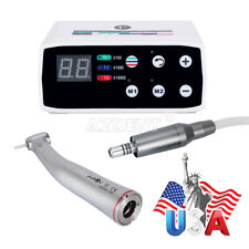 Dental 1:5 Increasing Handpiece Push Button+LED Brushless Electric Micro Motor