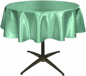 New Creations Fabric & Foam Inc, Round Satin Small Table Overlay