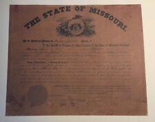 Jesse James Warrant Limited 1/500 Copy of Rare Collectible Original,Bar/Man Cave