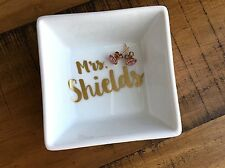 Personalized Name Ring Dish - Engagement Gift - Newly Engaged - Mrs. Jewelry Hol