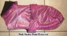 Pink Black Snake RAINCOAT & COLLAR XOLO ITALIAN GREYHOUND CHINESE CRESTED COAT