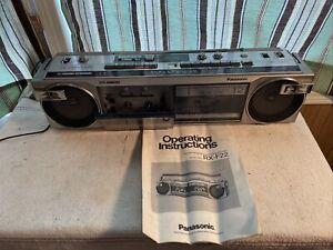 Panasonic RX-F22, Original, single owner, am/fm radio, dual cassette