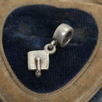 Sterling Silver Charm Necklace 925 Pendant ALE pandora Graduation Hat Cap