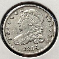 1834 Capped Bust Dime 10c Higher Grade   #11753