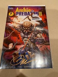 Archie vs. Predator II 1F Tucci Variant NM 2019 Signed By Billy Tucci
