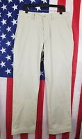 Polo Ralph Lauren Flat Front Chino Beige Pant Mens 33x32 Classic Fit