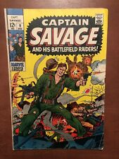Captain Savage And His Battlefield Raiders #9 (1968) Marvel Key Issue Silver Age