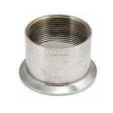 "2"" DN50 Sanitary Female Threaded Ferrule Pipe Fittings Tri Clamp Type  SS304"