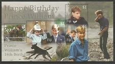 FIJI. 2000. Prince Williams 18th Birthday Miniature Sheet. SG: MS1101. MNH.