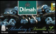Dilmah Tee-Blueberry & Vanilla Flavoured BLACK Ceylon Tea 20 bustina del tè
