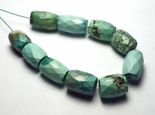 10 pcs TIBETAN TURQUOISE 13-17mm Faceted Barrel Beads NATURAL COLOR /b6
