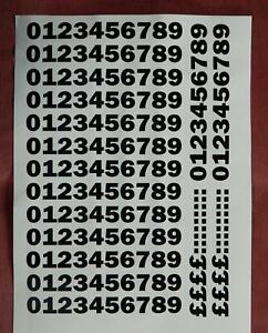 15mm Numbers. Use for house, bins, sports, Take Away Menu's, Games etc.