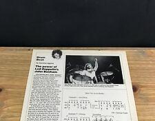 1989 VINTAGE 1PG PRINT ARTICLE DRUM BEAT WITH DRUMMER JOHN BONHAM LED ZEPPELIN