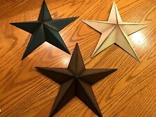 Three Really Nice Indoor Or Outdoor Hanging Stars, Blue, White, & Brown