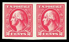 Scott 534 1920 2c Washington Type Va Offset Mint Horiz. Pair VF OG LH Cat $31