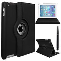 New Leather 360 Degree Rotating Smart Stand Case Cover For iPad Air 4 3 2 Mini