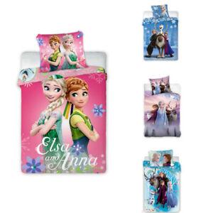 Frozen il Regno di Ghiaccio Lenzuola Biancheria Letto Bambini 140 X 200 CM