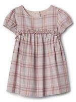 Baby Gap girls shimmer plaid short sleeve dress choose 6-12M, 12-18M, 18-24M